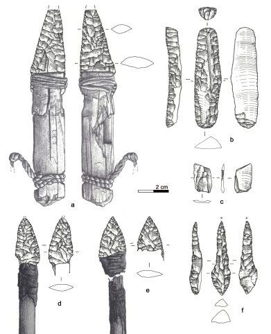 chert tools of the Iceman drawing (c) UWiererPLOS_ONE2018