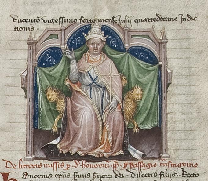 10 Onorio III papa foglio 10