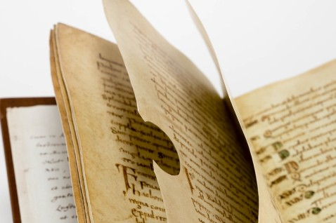 The pages are trimmed according to the size and flaws of the original parchment