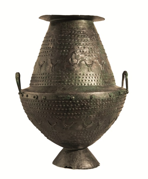 1 Vaso biconico villonoviano da tomba 74 Montevetrano