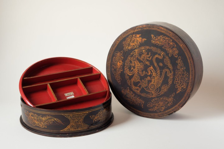 Scatola in lacca per il betel. Cina, Dinastia Qing.